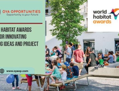 Convocatória aberta: Prêmios Mundiais do Habitat