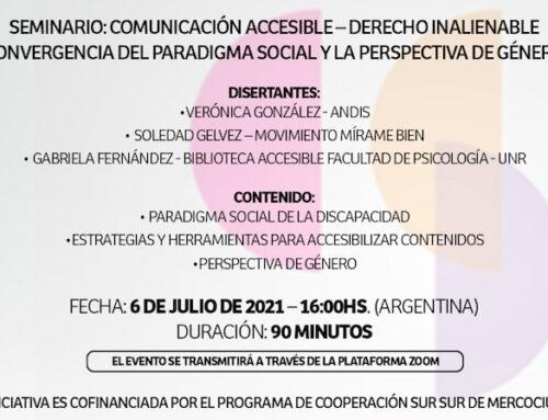 Seminario sobre comunicación accesible en el paradigma de discapacidad con perspectiva de género